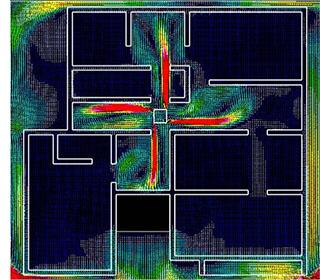 床下中央部のダイレクト換気イメージ